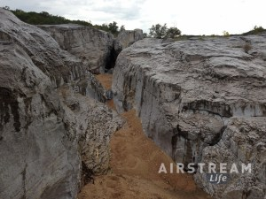 Pedernales Falls dry rocks