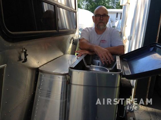 Airstream Zip Dee chair storage closed