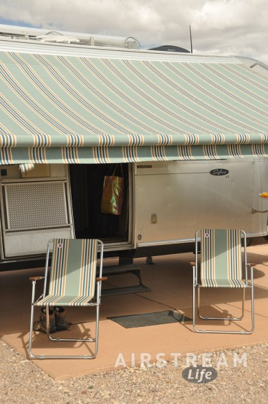 Airstream Zip Dee chairs and awning