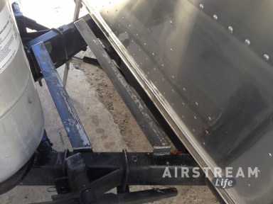 Airstream welded base for storage