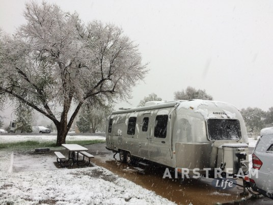 Chatfield SP Airstream snow