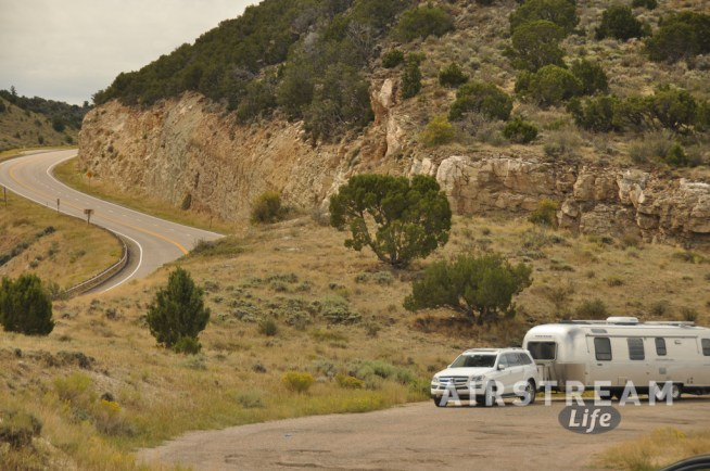 Utah Airstream near Flaming Gorge
