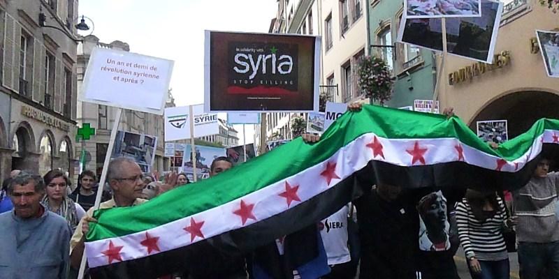 Manifestation pour la démocratie en Syrie à Strasbourg, en 2012 ©La Feuille de Chou