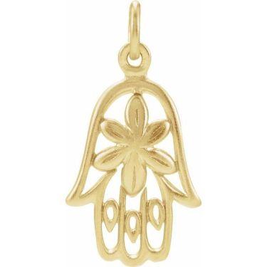 Hamsa Gold Pendant