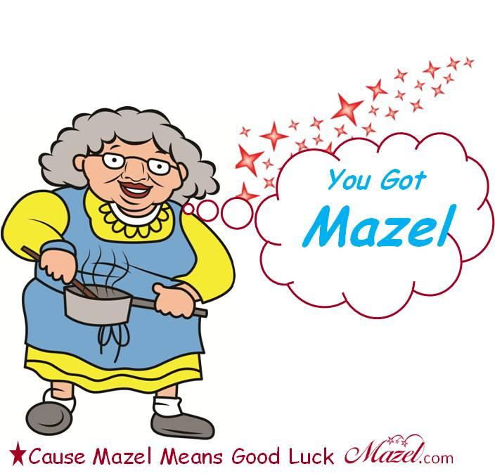 Bubbe You Got Mazel red