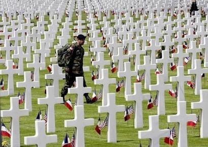 US Normandy graves (Coleville)