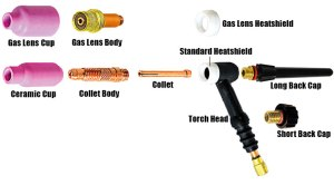 Weldcraft TIG Torches & Parts Choose from aircooled TIG