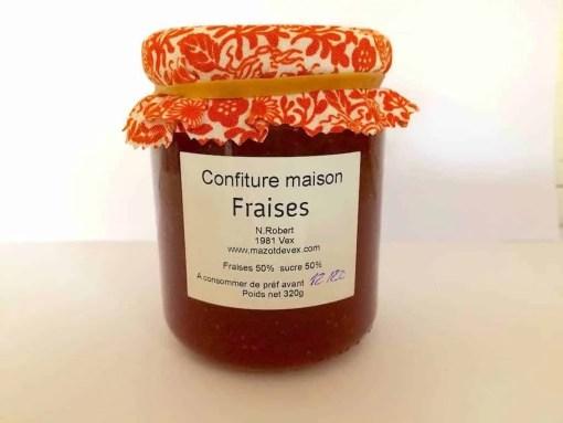 Mazot de Vex Confiture fraises du Valais