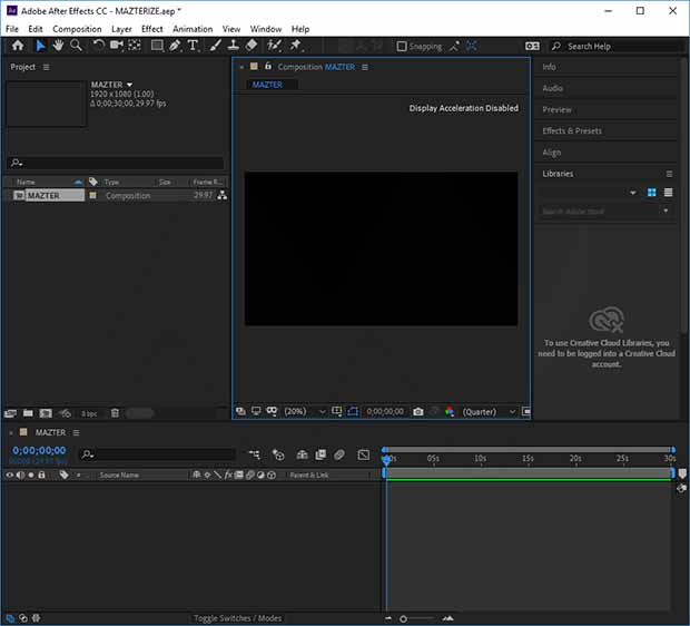 Adobe After Effects CC Crack + Activation Key