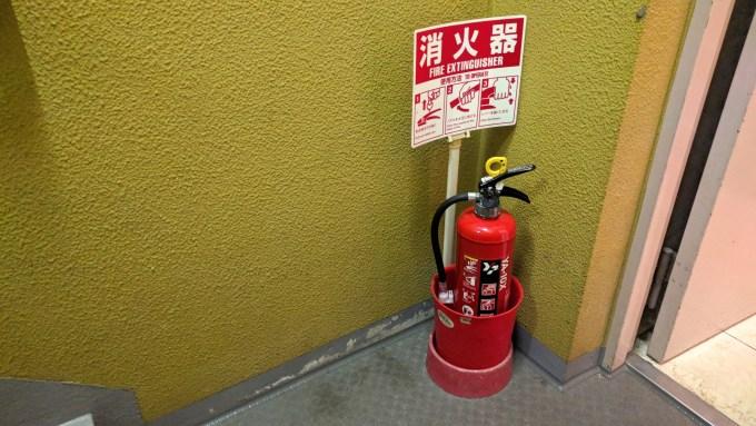消火器設置台のアイディア