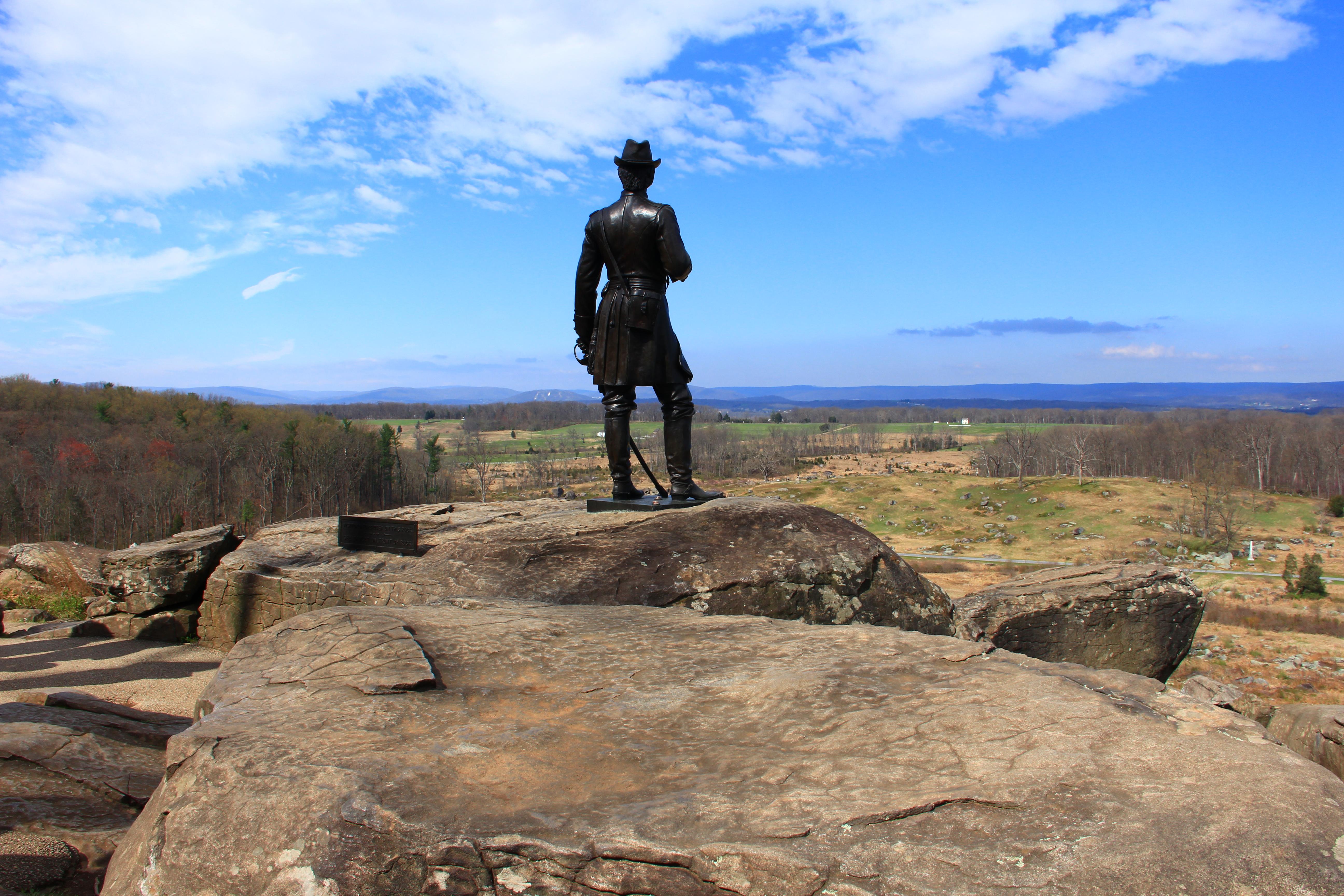 General Warren Statue on Little Round Top