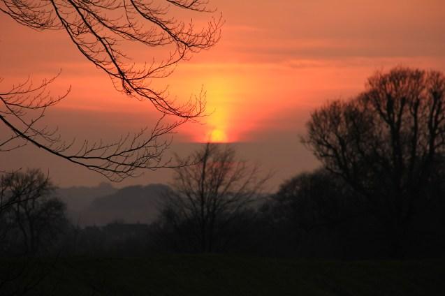 Sunset English Countryside