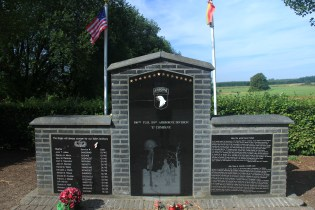 Memorial to 101st Airborne Easy Company (Band of Brothers)