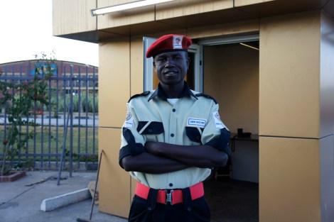 Guard at Hotel