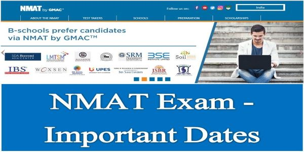 NMAT releases its exam dates on the official website for admission into NMAT colleges. You should take the test within the test window.