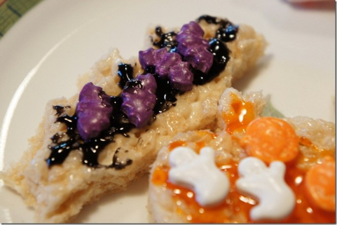 Hallowe'en Rice Krispie Treats