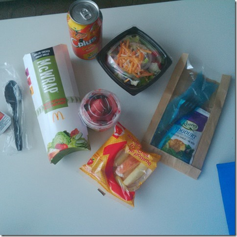 Signature Wraps for lunch from McDonald's Canada