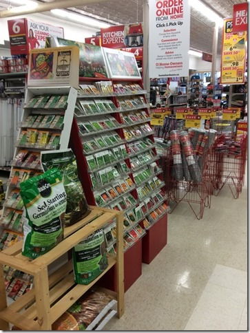 Home Hardware Seed Display