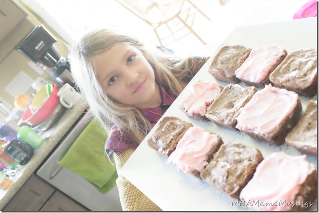 Little Girl With Finished Brownies