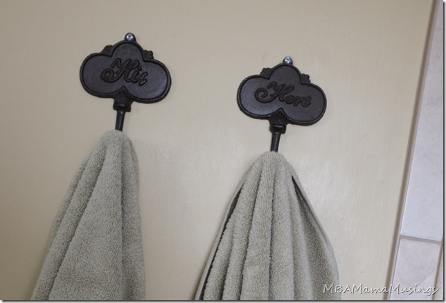 His and Hers Towel Hooks #ThankFALL