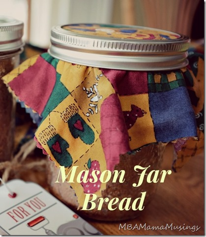 Mason Jar Bread Ready for Gift Giving