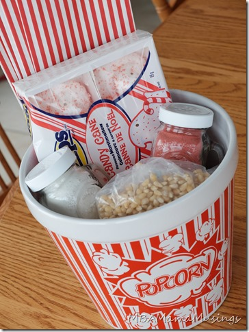 Homemade Popcorn Gift Basket