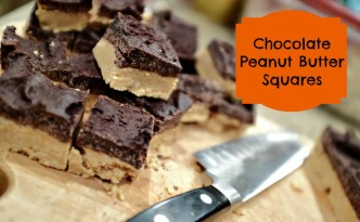 No Bake Chocolate Peanut Butter Squares