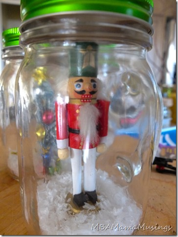 Nutcracker Mason Jar Drinking Glass Gift