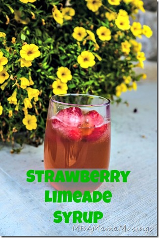 Strawberry Limeade from @MBAMamaMusings