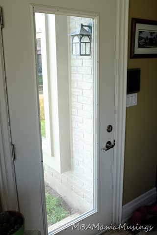 Original Door With Full Length Glass Insert