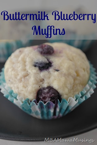 Buttermilk Blueberry Muffins MBAMamaMusings