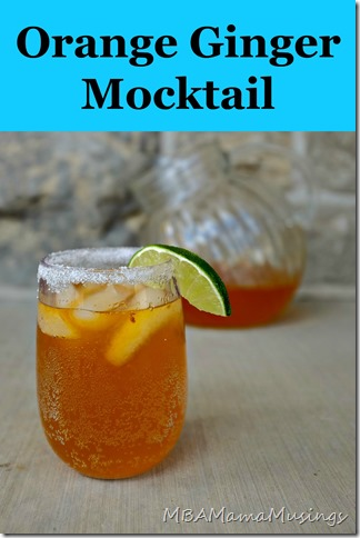 Orange Ginger Mocktail MBAMamaMusings #WhatsCooking