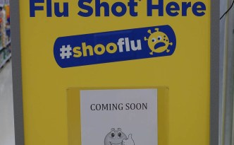 FluShot Sign at Superstore