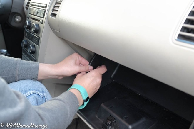 Dislocating Glove Box Catch Pin to Hyper Extend Ford Flex Glove Box