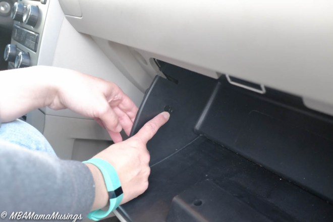 Locating Catch Pin in Ford Flex Glove Box