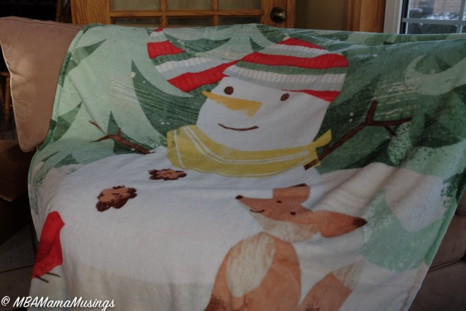 #LoveHallmarkCA Snowman Throw