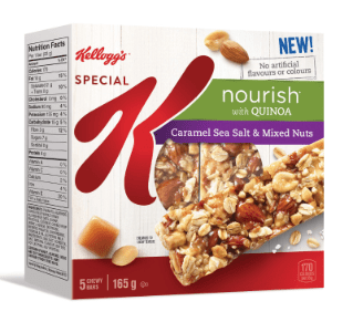 Special K Nourish With Quinoa Caramel Seal Salt & Mixed Nuts Bar