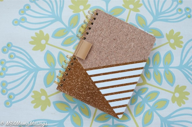 Cork colour block notebook Hallmark Canada