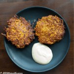 Sweet Potato Pancake Maple Sour Cream Dip