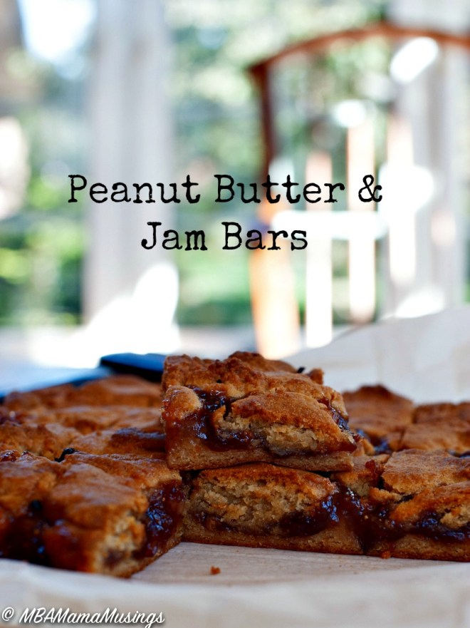 Peanut Butter and Jam Bars Recipe