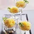 Лимонный сорбет с манго