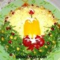 Новогодний салат Свеча