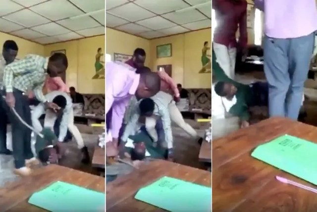 Teacher Beaten