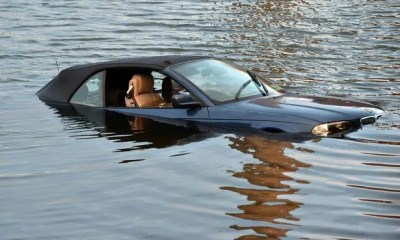 Car plunges into river