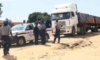 Truck carrying Mealie-meal