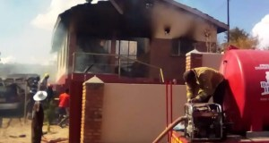 family home set on fire