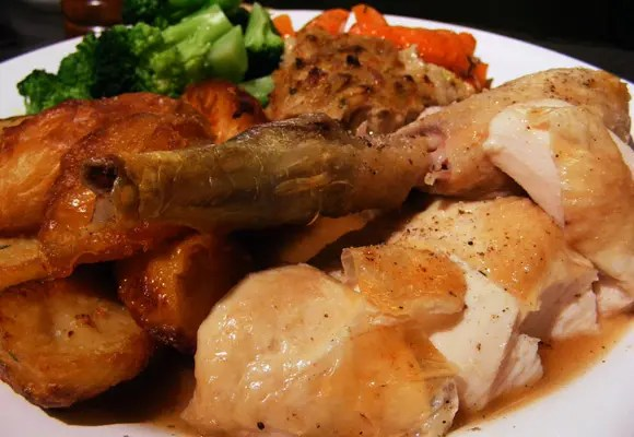 Roast chicken with perfect gravy