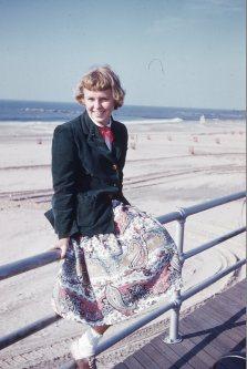 Mom, at 15, Cconey Island, 1953