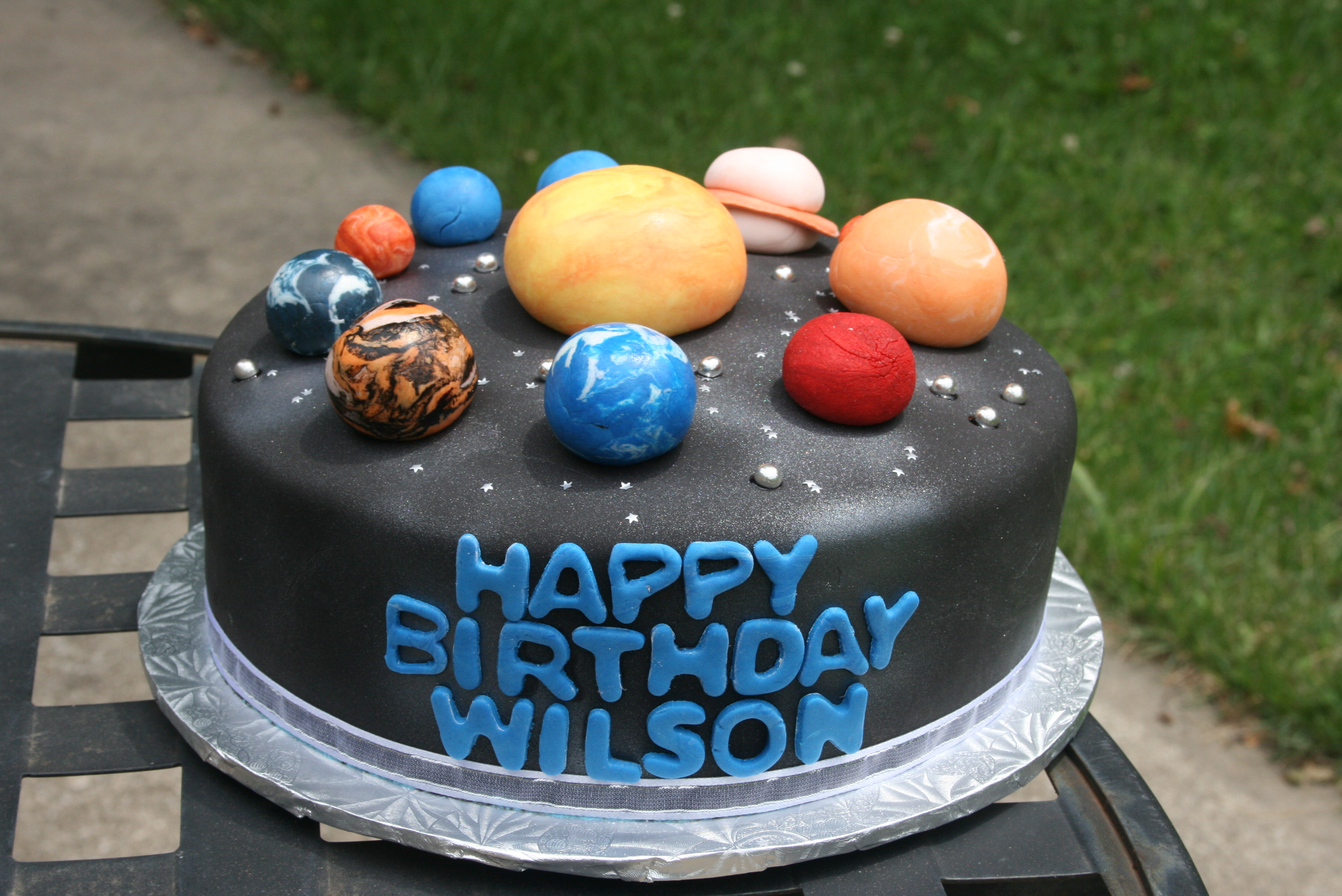 Outer Space Cake I Ve Affectionately Named It Roger Wilco