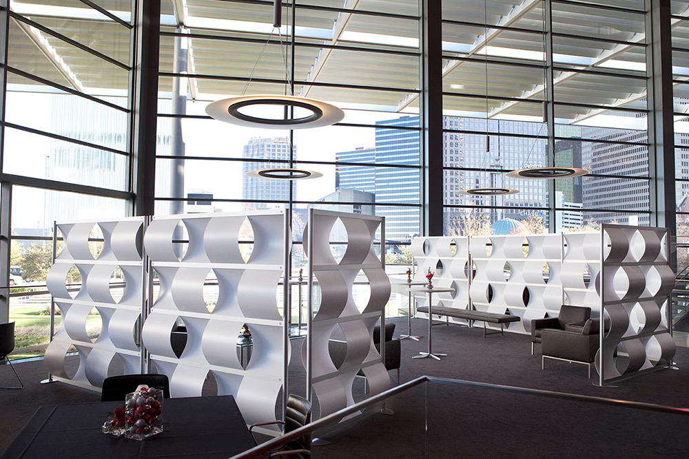 Loftwall Weave Dividers in Office Lobby